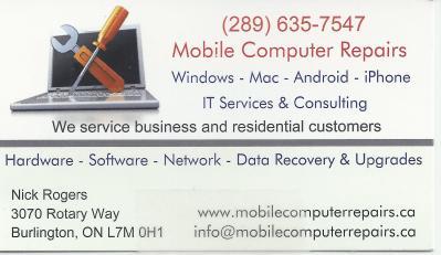 Mobile Computer Repairs